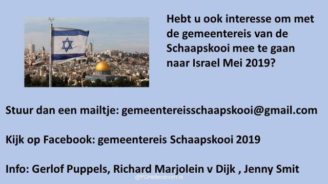 sheet afkondiging israel reis